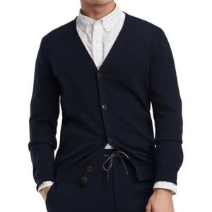TOMMY HILFIGER Sz L Cardigan Sweater Button Front